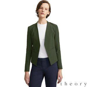 Theory Lanai Chateau Wool Open Front Blazer Sz 6